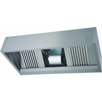 Hotte murale complète luxe, inox AISI 430, L 3200 mm x P 900 mm x H 540 mm
