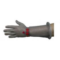 Gants cotte de maille, avec manchette stoplame, main gauche