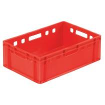 Bacs, fonds et parois pleins, rouges, L 600 x P 400 mm