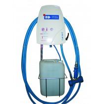 Poste de désinfection, 1 produit, L 650  x P 400 x H 1000 mm