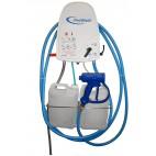 Poste de désinfection, 2 produits, L 700 x P 400 x H 1000 mm