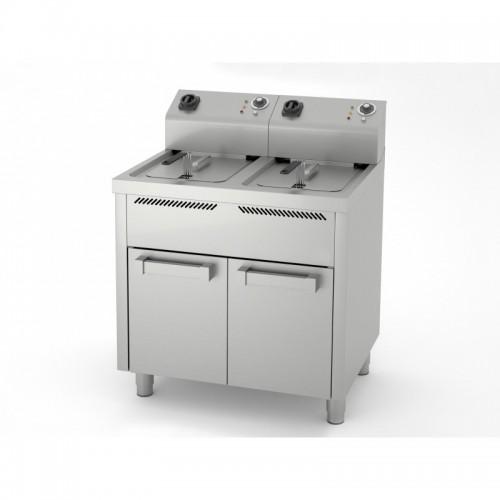 Friteuse électrique, 10 L + 10 L, série 600, sur placard