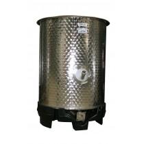 Cuve inox mélangeur, 530 L, diamètre 820 mm