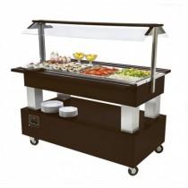 Buffet salad'bars réfrigéré (statique), version centrale 4 GN 1/1, 500 W