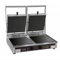 Grill panini vitrocéramiques double, gamme MASTER, 2 x 3 Kw