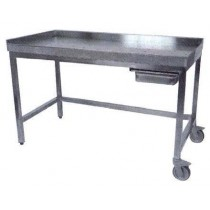 TABLE DE POUSSAGE, inox 304,1400 X 700 X 900 mm