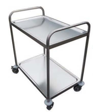 chariot de desserte pour cuisine en inox 2 ou 3 plateaux l 845 x p 525 x h 960 mm stl sarl. Black Bedroom Furniture Sets. Home Design Ideas