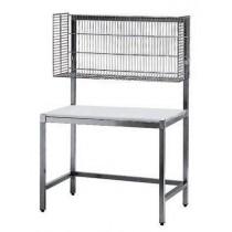 TABLE DE MISE SOUS BARQUETTE, dessus poly, 1200 X 700 X 1800 mm