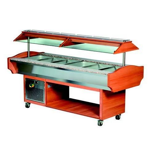 Salade bar réfrigéré, 6xGN1/1-150, L 2180 x P 900 x H 1320 mm