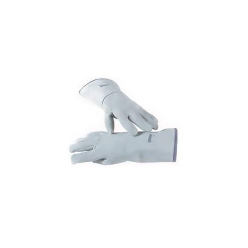 Gants de protection thermique 5 doigts, en cuir gris, longueur 360 mm