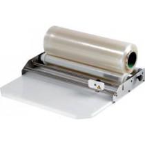 Dérouleur de film étirable, inox avec plaque support de découpe, hauteur 80 mm