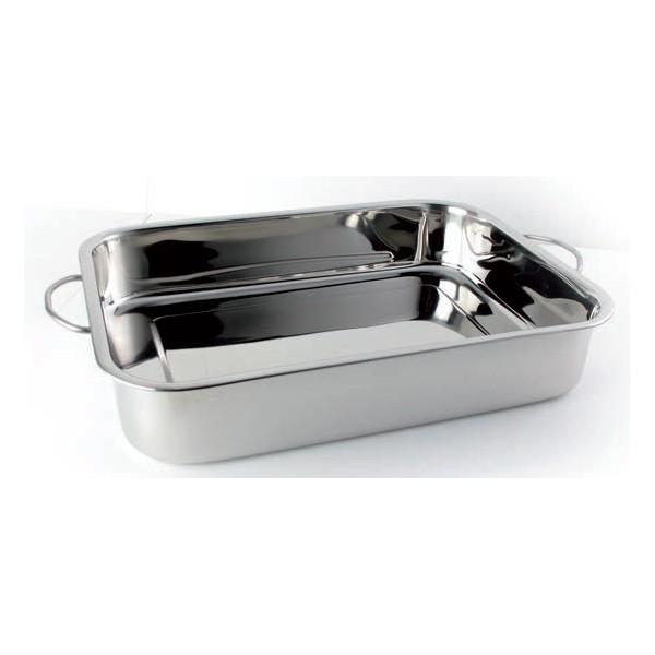Plat lasagnes avec anses poli miroir stl sarl for Plat professionnel inox