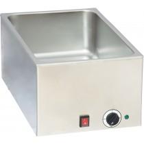 Bain marie professionnel GN 1/1, en acier ioxydable, 1200 W