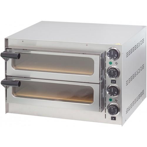 Four à pizza en acier inoxydable, 2 chambres, 2700 W