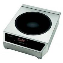 Wok à induction, 3.5 KW, habillage inox 340 X 450 X 120