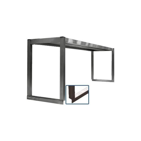 tag re professionnelle inox cuisine sur colonnette 1 niveau p 300 mm stl sarl materiels. Black Bedroom Furniture Sets. Home Design Ideas